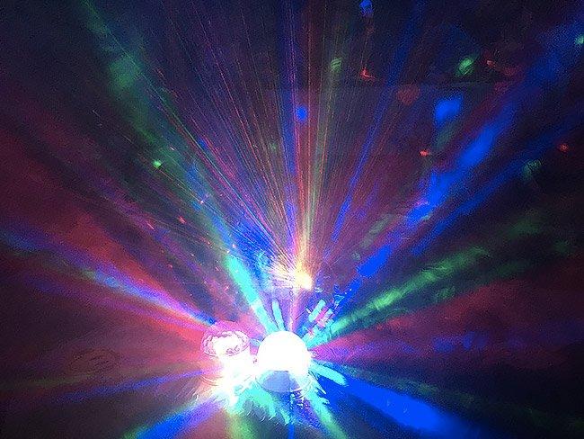 Effetti luce colorati in feste per bambini a roma