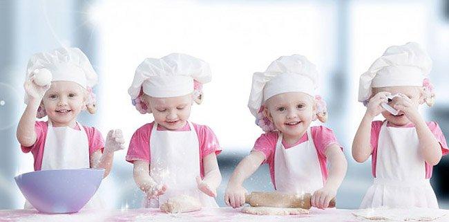 Festa laboratorio di cucina per bambini a Roma