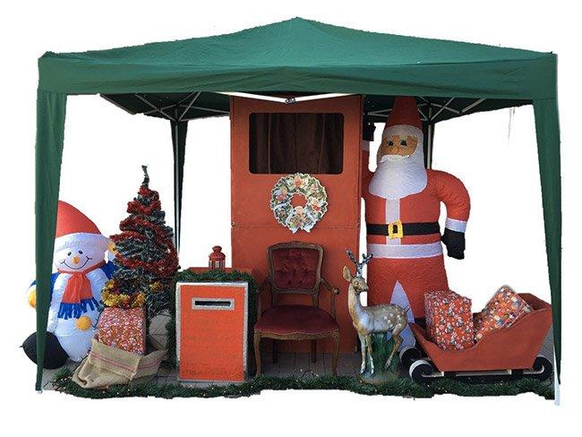 Noleggio casetta di Babbo Natale per eventi commerciali a Roma