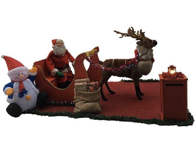 Noleggio slitta Babbo Natale per eventi di Natale a Roma