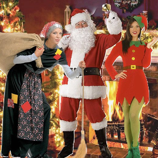 Babbo Natale, Elfi, Befana per animazione promozionale natalizia a roma