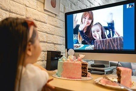 Compleanno virtuale online a distanza per bambini